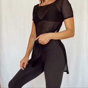 black mesh t shirt !